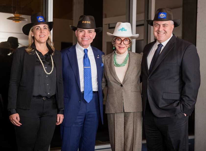 L-R: Mrs. Melissa Babbage, Mr. Peter Freedman AM, Ms. Alice Walton, Australian Ambassador to the United States, The Hon. Joe Hockey inspecting the first stages of the Momentary arts space under construction.